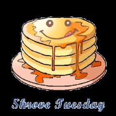 Shrove Pancake Tuesday February 25, starts 4:00pm in Spirit Hall